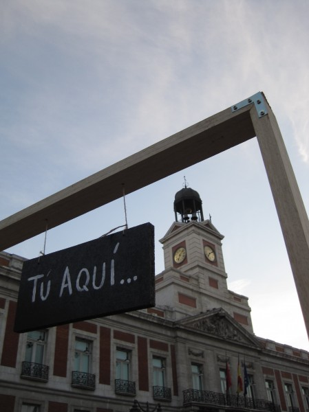 Tu Aqui and Puerta del Sol clock tower 449x600 Deepest thanks, and best wishes for a fabulous 2012!