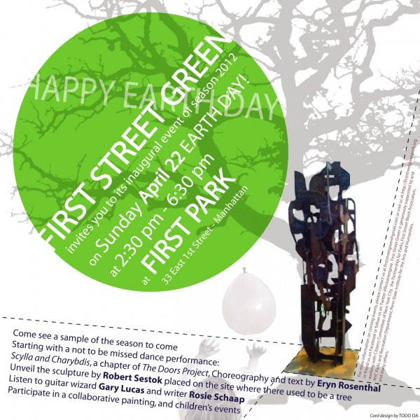 First Street Green Art Park April 22 opening invite