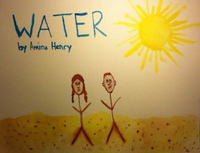 Water cover image-watercolor on paper by Amina Henry