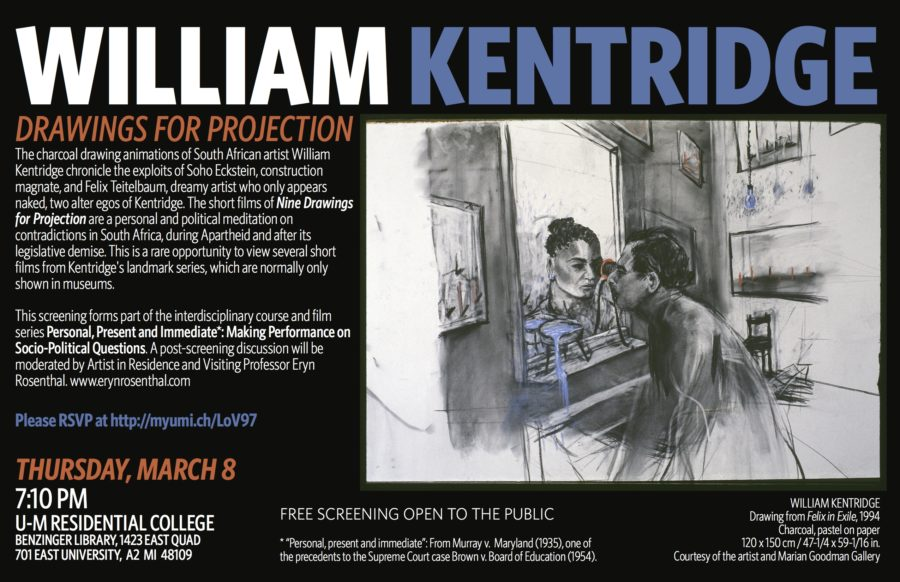 William Kentridge 8mar18 Screening Horizontal Poster 900x582 William Kentridge: Drawings for Projection